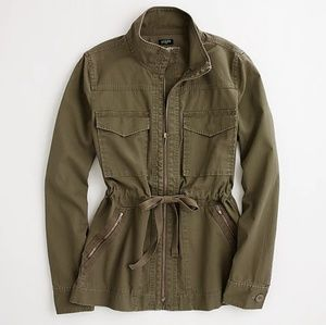 J. Crew Factory Washed Military Jacket Sz M